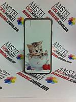 Чехол для lenovo s850 панель накладка с рисунком котенок в чашке