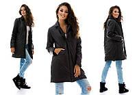 Женская демисезонная куртка-пальто на синтепоне