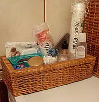 Ящик плетеный на косметику в ванную
