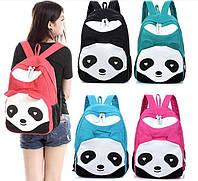 Красивый рюкзак школьный студент походный Панда