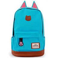 Красивый рюкзак школьный студент походный Уши кота