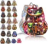 Красивый рюкзак школьный студент походный Цветы