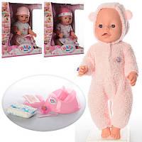 Детский пупс BL012A-UA: 42 см, аксессуары, одежда, 8 функций, коробка 32,5х38х18 см