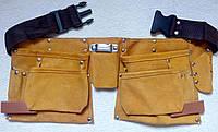 Пояс монтажника кожаный(10 карманов)