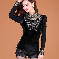 Блузка женская футболка летняя кружева Хит Акция