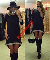 Платье туника Французский трикотаж + кружево №269