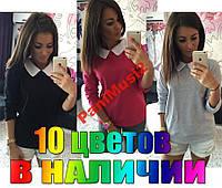 Кофта рубашка реглан туника блузка воротник №19