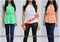 Блузка рубашка футболка туника майка + поясок 30