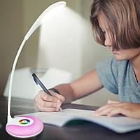 Настольная лампа Led S10-A с функцией ночника (RGB диоды), мощность 3 Вт, сенсорная кнопка включения
