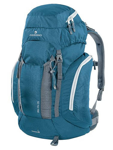 Надежный рюкзак для туризма Ferrino Alta Via 35L Blue 922848 синий