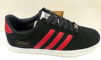 Кроссовки мужские Adidas GAZELLE черные и белые AD0010