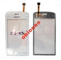 ТАЧСКРИН Nokia C5-03/C5-06 White С Самоклейкой ААА