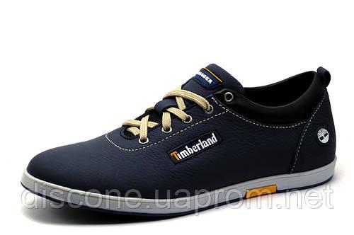 Туфли Timberland, мужские, спортивные, натуральная кожа, синие, р. 41 45