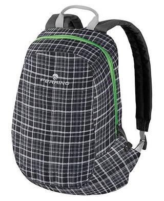 Компактный городской рюкзак Ferrino Axes 15L Tartan Black 922841 серый/клетка