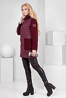 Короткое комбинированное демисезонное пальто Микс
