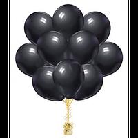 Облако из  гелиевых черных шаров (30 см.)