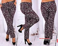 Женские брюки с принтом камни