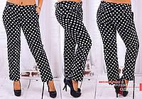 Женские укороченные брюки в горошек