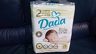 Подгузники Дада Dada 2  Premium  mini 3-6кг 74шт