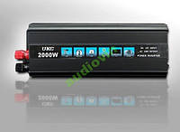 Инвертор с зарядным устройством 2в1 UKC 2000W
