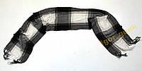 Шарфик черно-белый клетчатый   150 х 24 см