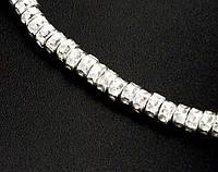 Бусины чеканка разделители серебро.970
