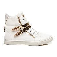 Модные белые ботинки женские спортивные