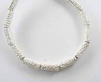 Бусины трубочки чеканка серебро п.970