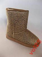 Гламурные угги Теплющиие Леопард  размер 38