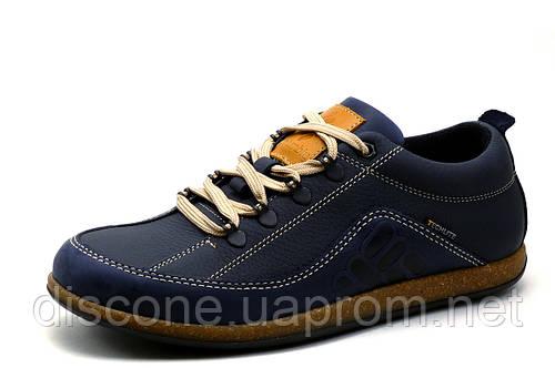 Туфли Columbia Techlite, мужские, спортивные, натуральная кожа, синие, р. 40