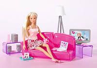 Кукла Штеффи в гостинной Steffi Simba