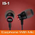 Наушники IVERY IS1 микрофон,для IPhone МП3 красные