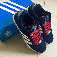 Кроссовки Adidas Gazelle темно-синяя замша