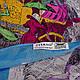 Качественный женский шарф из хлопка 182 на 86 см  ETERNO (ЭТЕРНО) ES0908-1-4 разноцветный, фото 2
