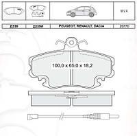 Колодки тормозные передние Lifan 520