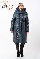 """Пальто женское больших размеров """"Winter arctic fox"""""""