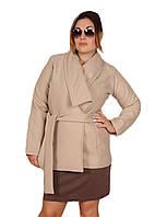 Женское пальто кашемировое  короткое  р.48,50,52 беж