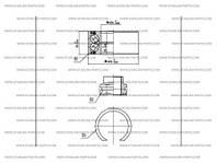 Подшипник передний без АБС для FIAT LINEA (ZFA323)
