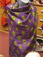 Шарф шарфик фирма палантин хлопок фиолетовый 1м 80
