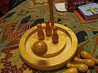 Игра дерево из БРИТАНИИ SKITTELS SET кегли