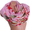 Замечательный женский шарф из хлопка 182 на 90 см  ETERNO (ЭТЕРНО) ES0908-9-3 розовый