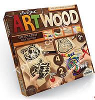 Комплект креативного творчества DankoToys ArtWood подставки под чашки