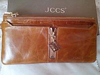 Кошелек кожаный  для денег , телефона JCCS