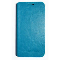 ЧЕХОЛ Leather Flip Cover Lenovo A388 A388t Blue