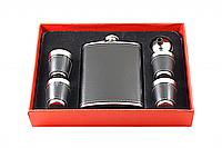 ФЛЯГА F3-456 (8 OZ), набор фляга, рюмки, сувенирный набор, набор в подарок