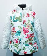 Куртка демисезонная для девочки. Цвет белый