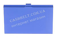 Тонкая металичесская визитница для своих визиток art.синий