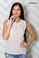 Однотонная летняя блуза из шифона