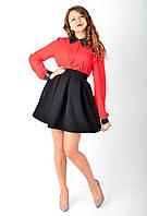 Молодежная  юбка выполнена из костюмной ткани., фото 1