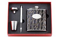 НАБОР С ФЛЯГОЙ F3-21-(7OZ), набор подарочный, сувенир, фляга с декоративным оформлением